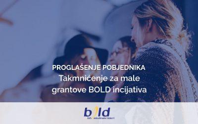 Proglašenje pobjednika za male grantove BOLD inicijativa