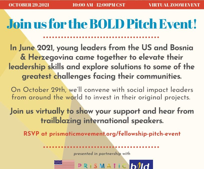 Pridružite nam se na BOLD Pitch Eventu!